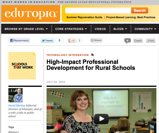 Click for link to Edutopia: Schools that Work